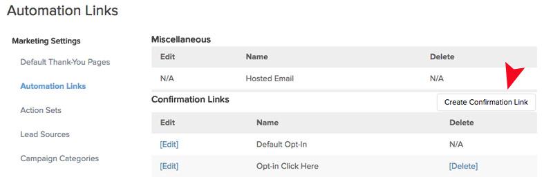 create custom confirmation link
